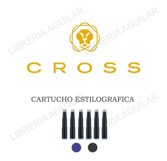 Cartucho Para Pluma Estilografica Cross Negro Azul