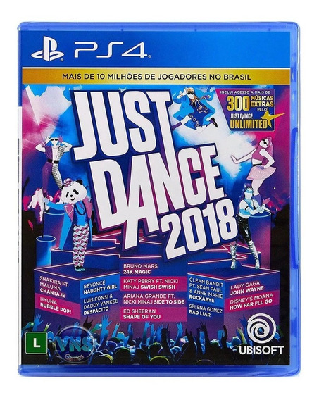 Just Dance 2018 Ps4 Mídia Física Nacional Lacrado Novo Rj