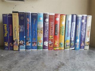 Colección De Vhs Disney Originales Y Varios Más Para Chicos
