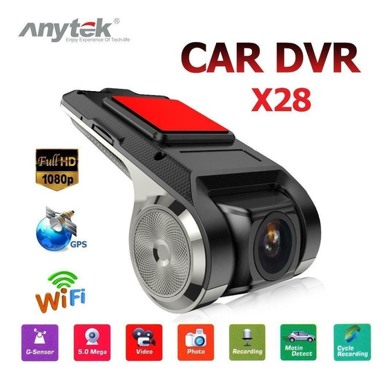 Mini Camera Veicular Anytek X28 Full Hd Multimídia 1028 Gps