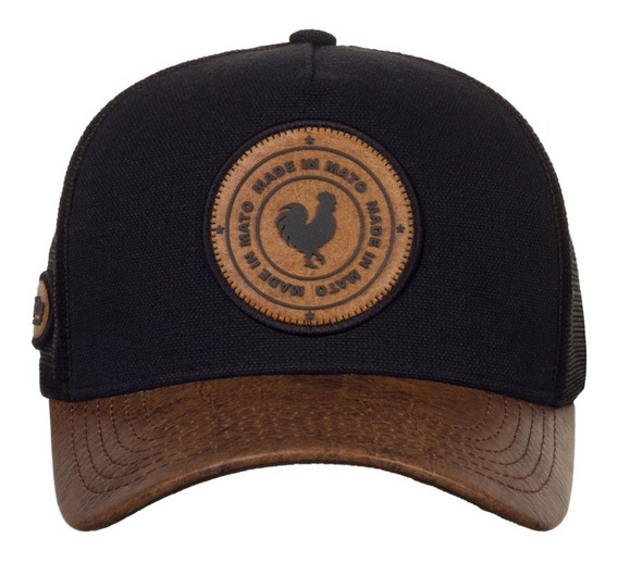 Boné Made In Mato Trucker Old Leather Big B1773