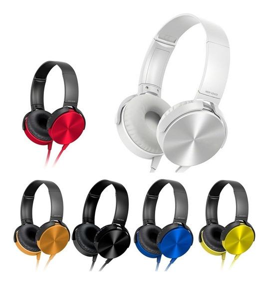 Fone De Ouvido Com Microfone Headphone Extra Bass