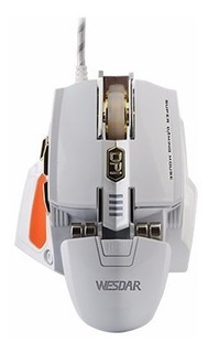 Mouse Gaming Wesdar X6 7 Botones + Pad Mouse Grande