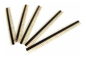 Kit 5 Unid Barra De Pinos Reta Header Macho 1x40 2,54mm Pic
