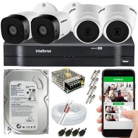 Kit 4 Câmeras Intelbras Fullhd
