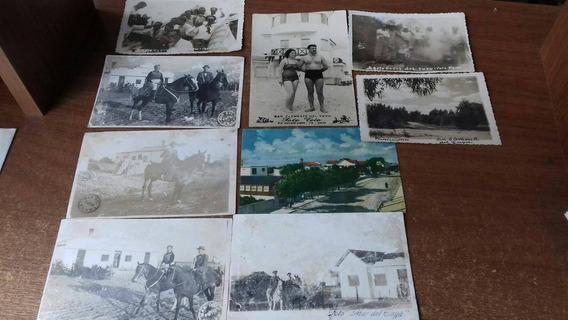 Lote De 9 Fotografias Antiguas San Clemente Del Tuyu