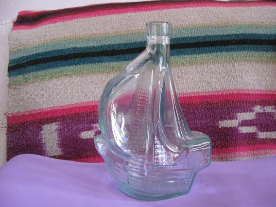 Botella De Vidrio Con Forma De Barco, Galeon O Carabela