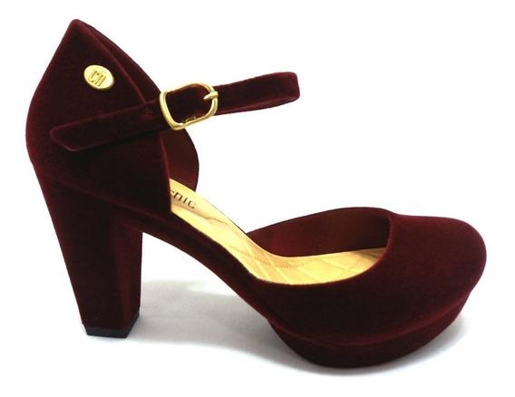 Sapato Feminino Camurça Salto