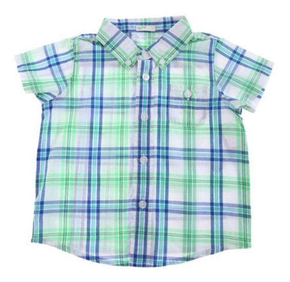 Camisa Casual United Colors Of Benetton 3 M Vaquera C361