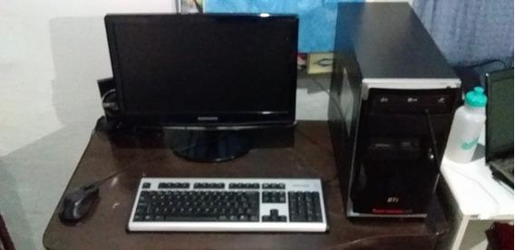 Computador Semp Toshiba Dual+ Monitor Samsung 21,5 Polegadas