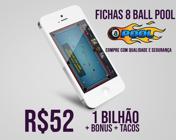 Fichas 8 Ball Pool Miniclip 8 Ball Pool R$50