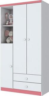 Guarda-roupa Infantil Bala De Menta Branco Com 3p E 2g (i)