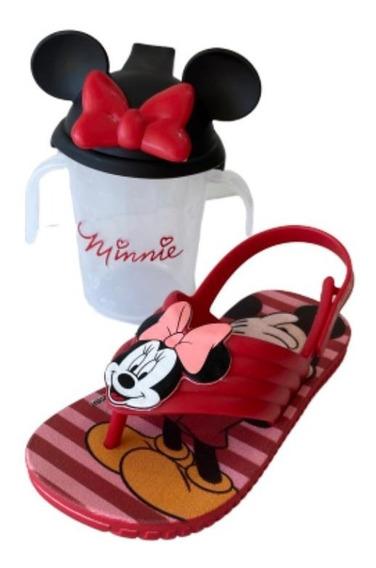 Papete Feminina Infantil Disney Minnie Rosa