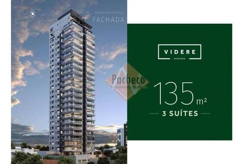 Imagem 1 de 17 de Apartamento Na  Água Branca, 135 M², 03 Suítes, 02 Vagas, R$ 1.665.000,00 - 2408