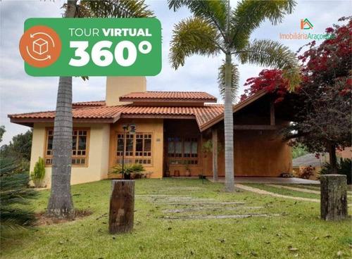 Imagem 1 de 30 de Tour Virtual, Casa Maravilhosa Condomínio Quintas Do Campo Largo, - Ca0364