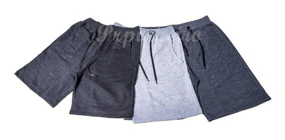 Shorts Masculina Bermuda Academia Esporte Treino C/3 Plus
