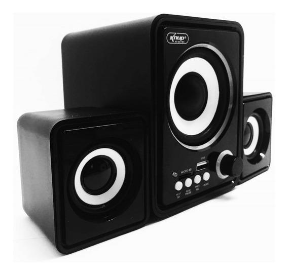 Caixa De Som Bluetooth Mp3 Radio Fm Usb Computador Notebook