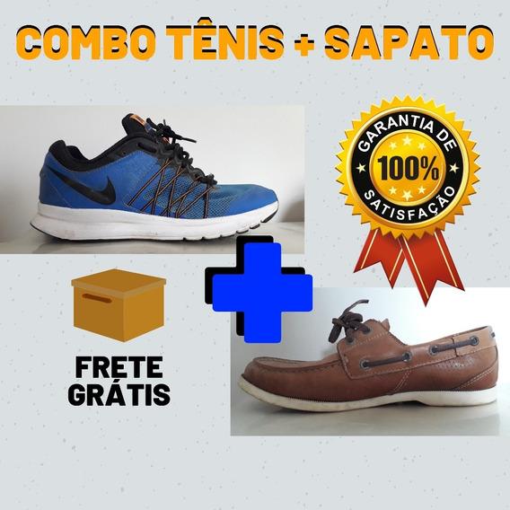 Combo Tênis Nike + Sapato De Couro