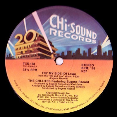 The Chi-lites Featuring Eugene Record - Try My Side