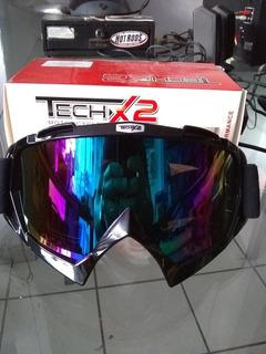 Googles Lentes Para Motocross Atv Tornasol Marca Techx2