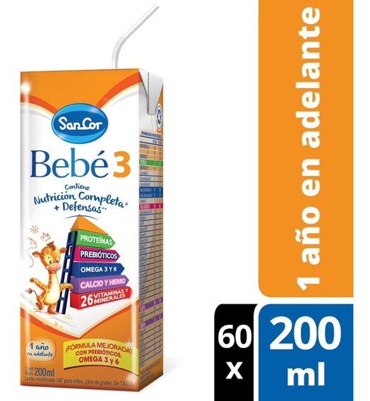 Leche Sancor Bebe 3 Nutricion Completa 200ml X 60 Unidades