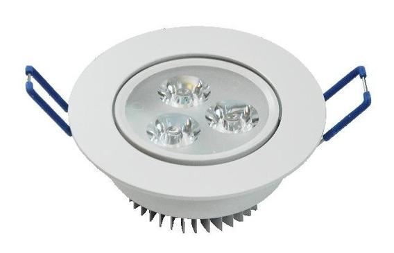 Spot Led 3w Lampada Dicroica Direcionável Para Gesso Kit 3p