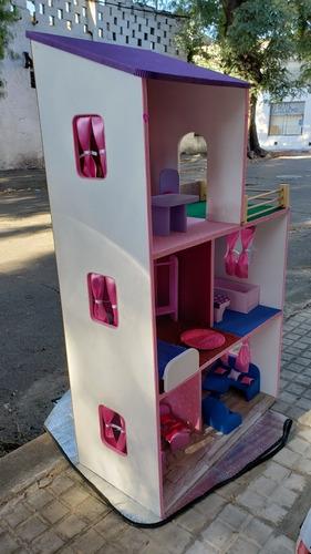 Imagen 1 de 7 de Casas Barbie 3 Pisos Completa 108 De Altura Elige El Color
