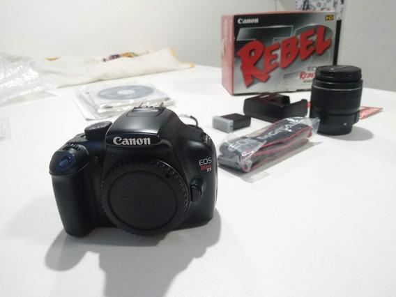 Camera Digital Eos Canon Rebel T3 Nova Completa + Sd 8 Gb