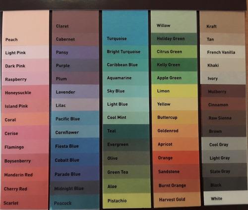 Papel De Seda 60 Colores A Escoger Resmas De 24 Pliegos