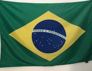 Bandeira Do Brasil Grande Dupla Face (85x125)