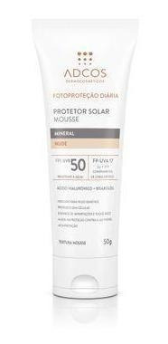 Protetor Solar Mousse Mineral Fps 50 Nude 50g
