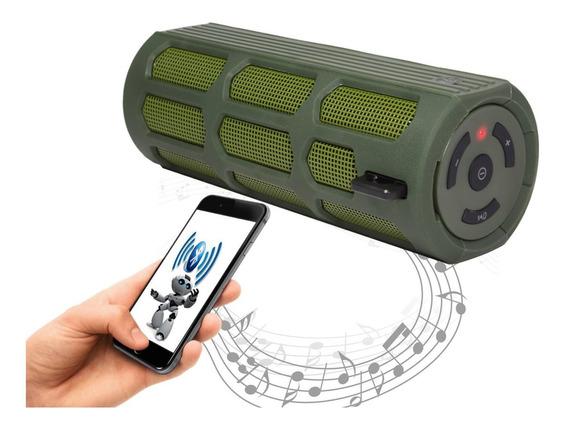 Caixa De Som Bluetooth Estilo Padrao Exército Som Com Estilo