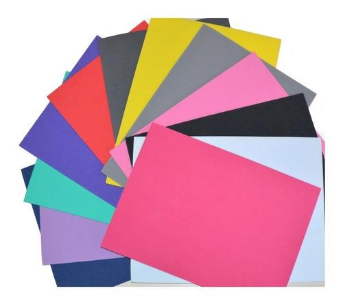 Foami Tamaño Carta Varios Colores (12 Pzas)