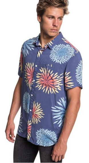 Camisa Quiksilver Azul Hombre Variable Shirt Eqywt03771