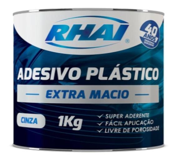 6 Pçs Adesivo Massa Plástica Cinza Automotiva 1kg Rhai