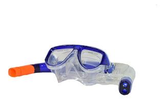 Set Buceo Profesional Mascara Anatomica + Snorkel Marfed