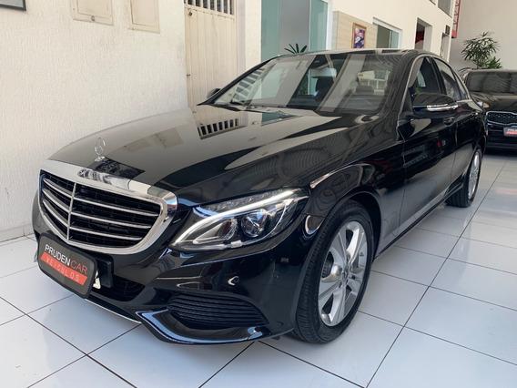 Mercedes-benz C180 1.6 Cgi Exclusive 2018 Preta Blindada