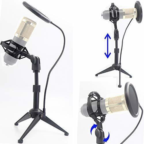 Soporte De Suspension Para Tripode De Microfono De Escritori