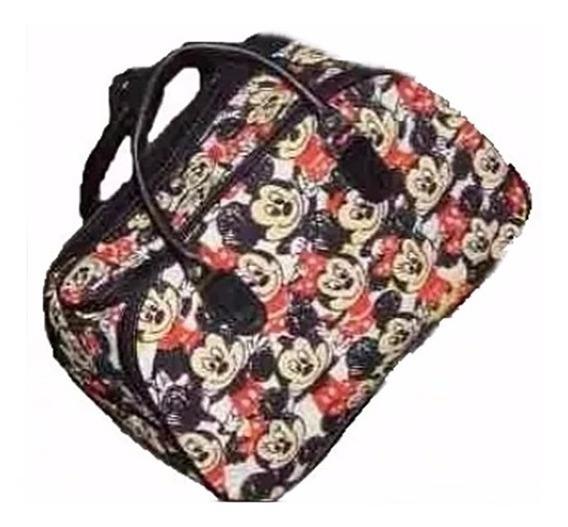 Bolsa Mala De Mão Feminina Viagem Estampa Mickey Colorido