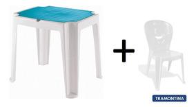Mesa E Cadeira Infantil Tramontina Versa E Vice Rosa Cabo