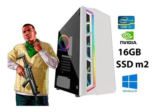 Computador Gamer I7  Gtx 1050ti  16gb  Ssd M2 Fonte 80plus