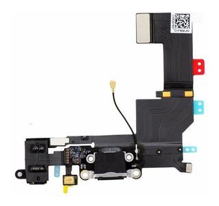 Flex Centro De Carga Jack De Audio Color Negro iPhone 5s
