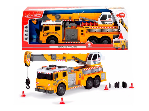 Dickie Toys Camión Gigante De Acción, Grúa De 62cm