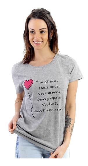 Camiseta Blusa Tshirt Feminina Kit Com 10 Peças