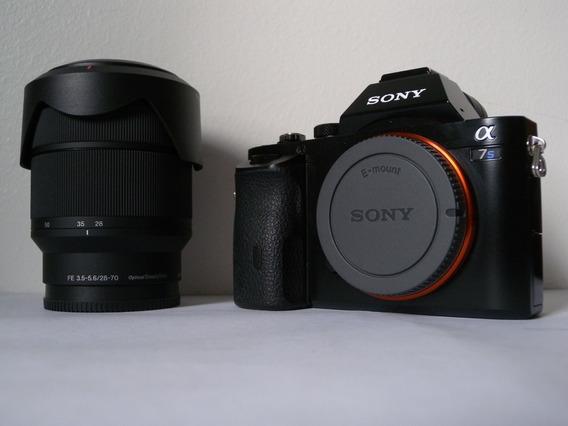 Câmera Sony Alpha A7s Super Iso + Lente 28-70mm Excelente