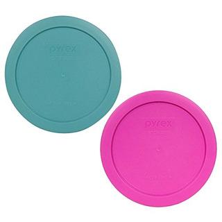 Pyrex 7201 Pc 4taza 1 Color Turquesa 1 Rosa Redondo Tapas D