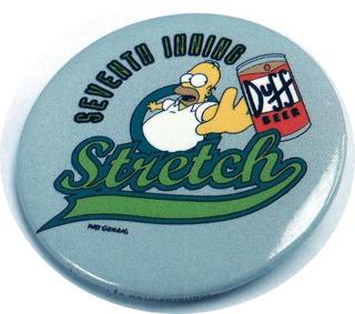 Pin Simpson Original Diametro 4.3 Cm Homero Cerveza , E2032