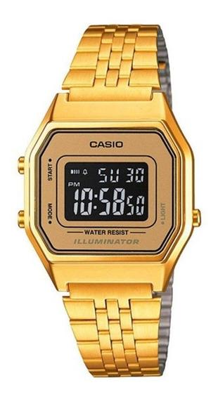 Relógio Casio Vintage Digital La680wga-9bdf Dourado