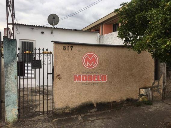 Casa Com 1 Dormitório Para Alugar, 50 M² Por R$ 450,00/mês - Santa Terezinha - Piracicaba/sp - Ca2615