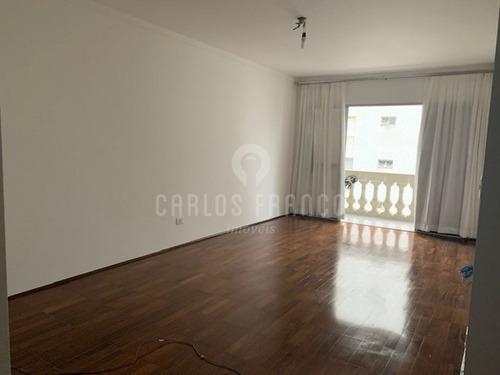 Imagem 1 de 15 de Apartamento De 129m², Com 3 Dorms. (1 Suíte), Sacada, 3 Banheiros, 1 Vaga Na Bela Vista - Cf62296